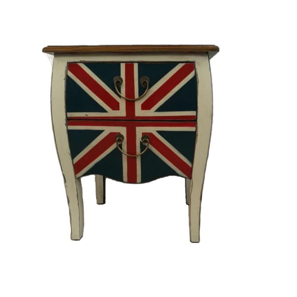 Comodino bandiera inglese shabby 57x70x45 codice LW-65 ...