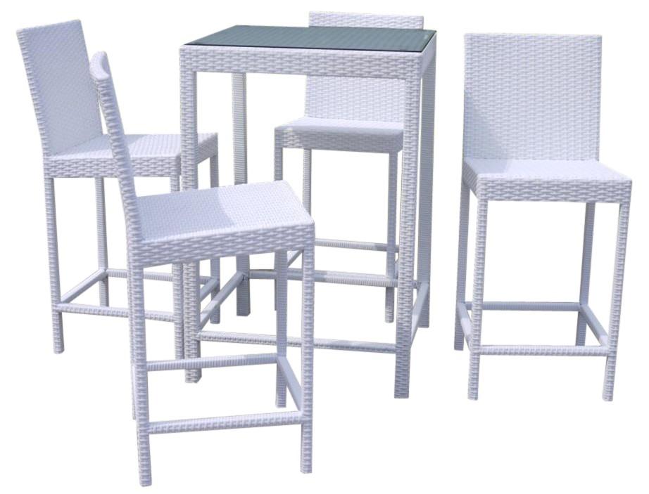 Tavolo da esterno alto con sgabelli struttura in alluminio - Rivestimento tavolo ...