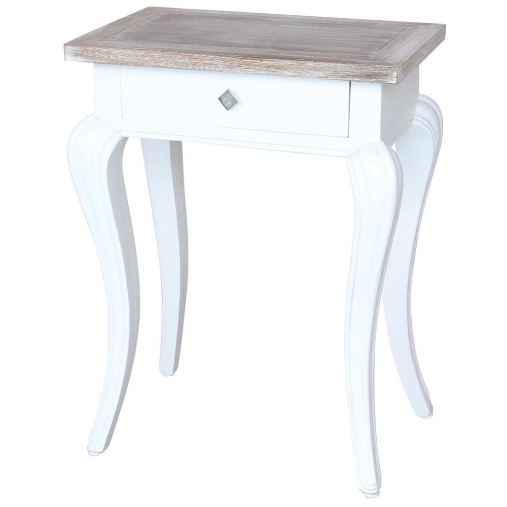 Tavolino shabby chic con cassetto 50x70x30 codice AX50002 | Etnicart