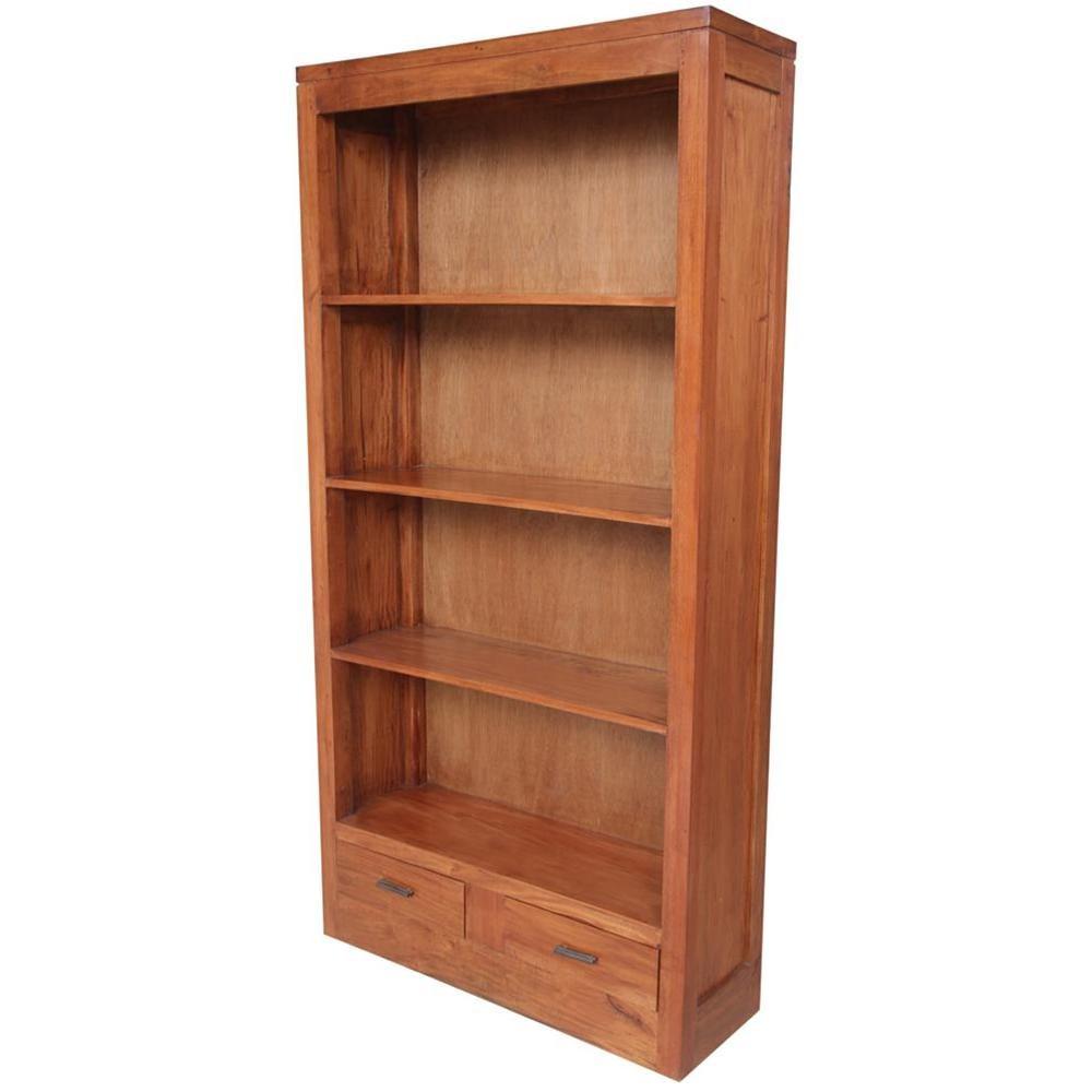 Libreria con cassetti in mogano 90x180x30 codice AX11001LB   Etnicart