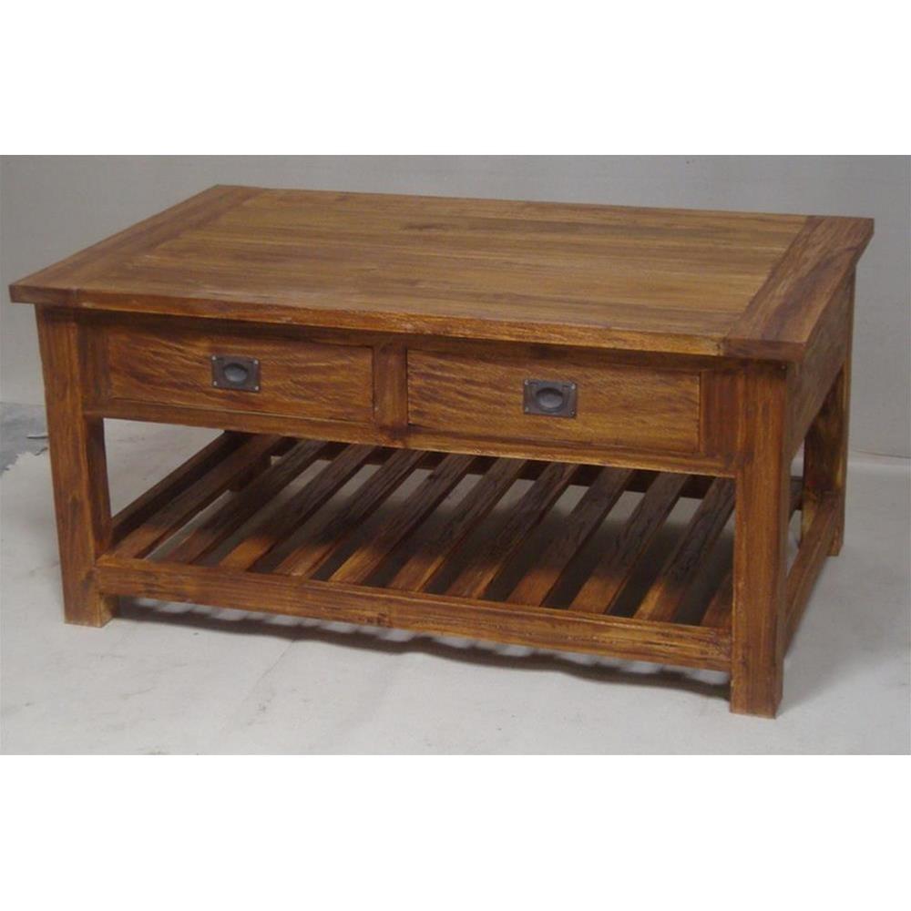 Tavolo basso rustico in acacia massello 113x54x70 codice ap 6 etnicart - Mobili indonesiani ...
