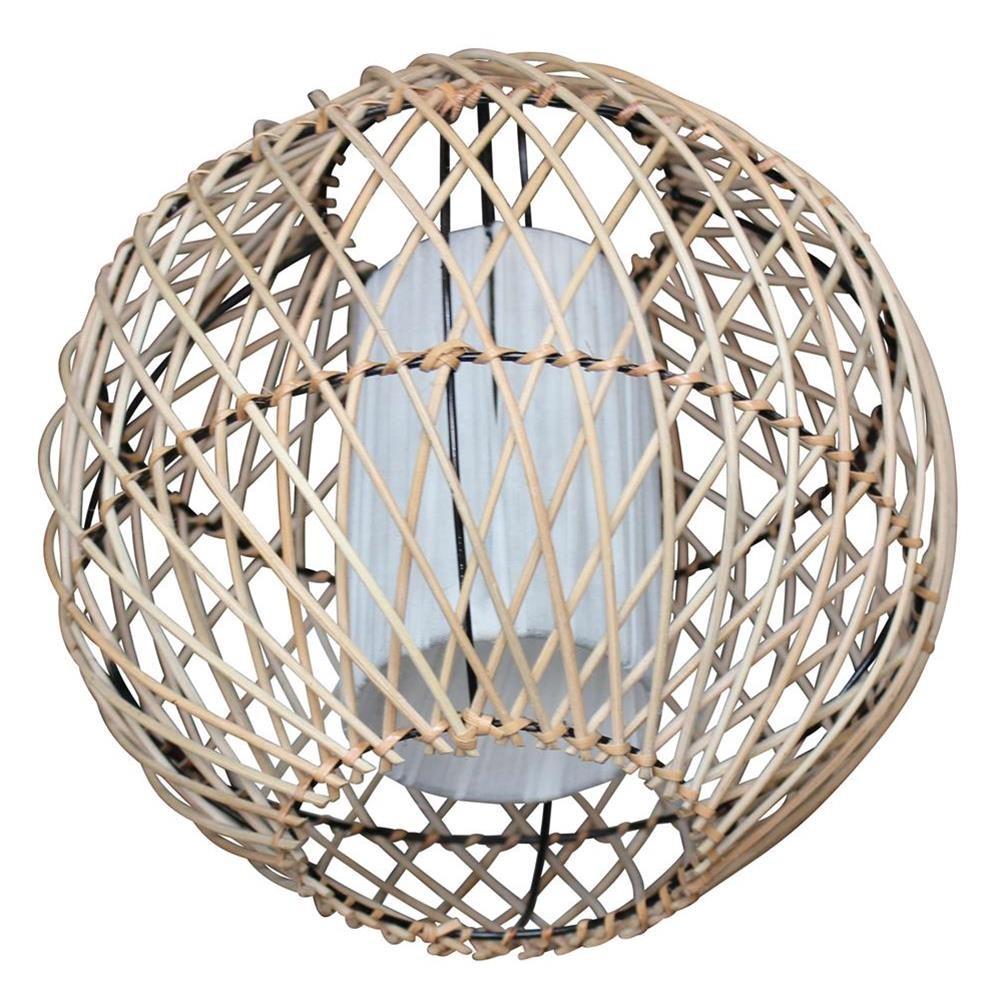 lampadario tondo etnico fili di bamboo e tessuto bianco 30x30x30 codice ie15 nan12 etnicart. Black Bedroom Furniture Sets. Home Design Ideas