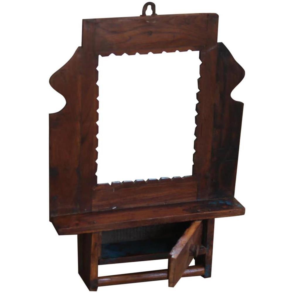 Specchio In Legno Con Cassettini Altri Complementi D'arredo Arredamento D'antiquariato