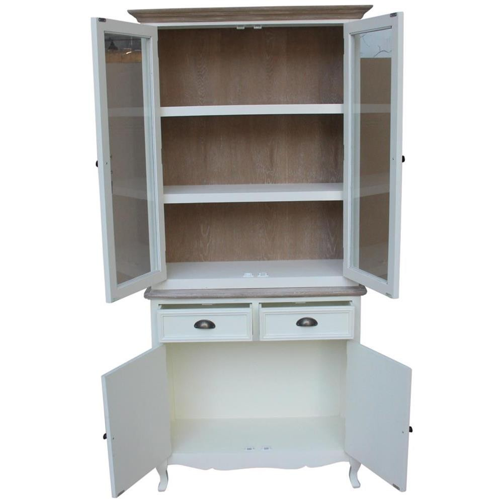 Mobile cucina dispensa bianco con top shabby 89x192x35 for Mobile dispensa per cucina moderna