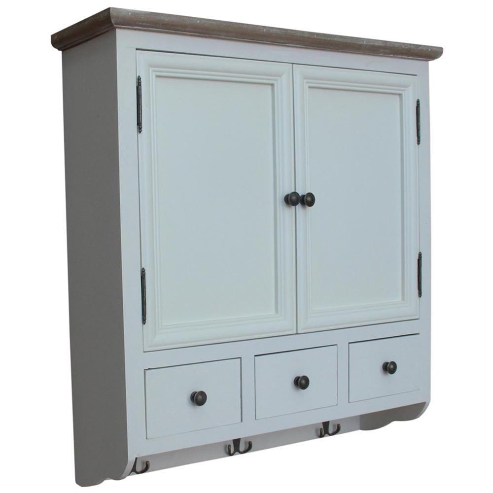 Mobiletto bianco da parete per cucina bagno 70x77x22 - Mobiletto bagno da appendere ...