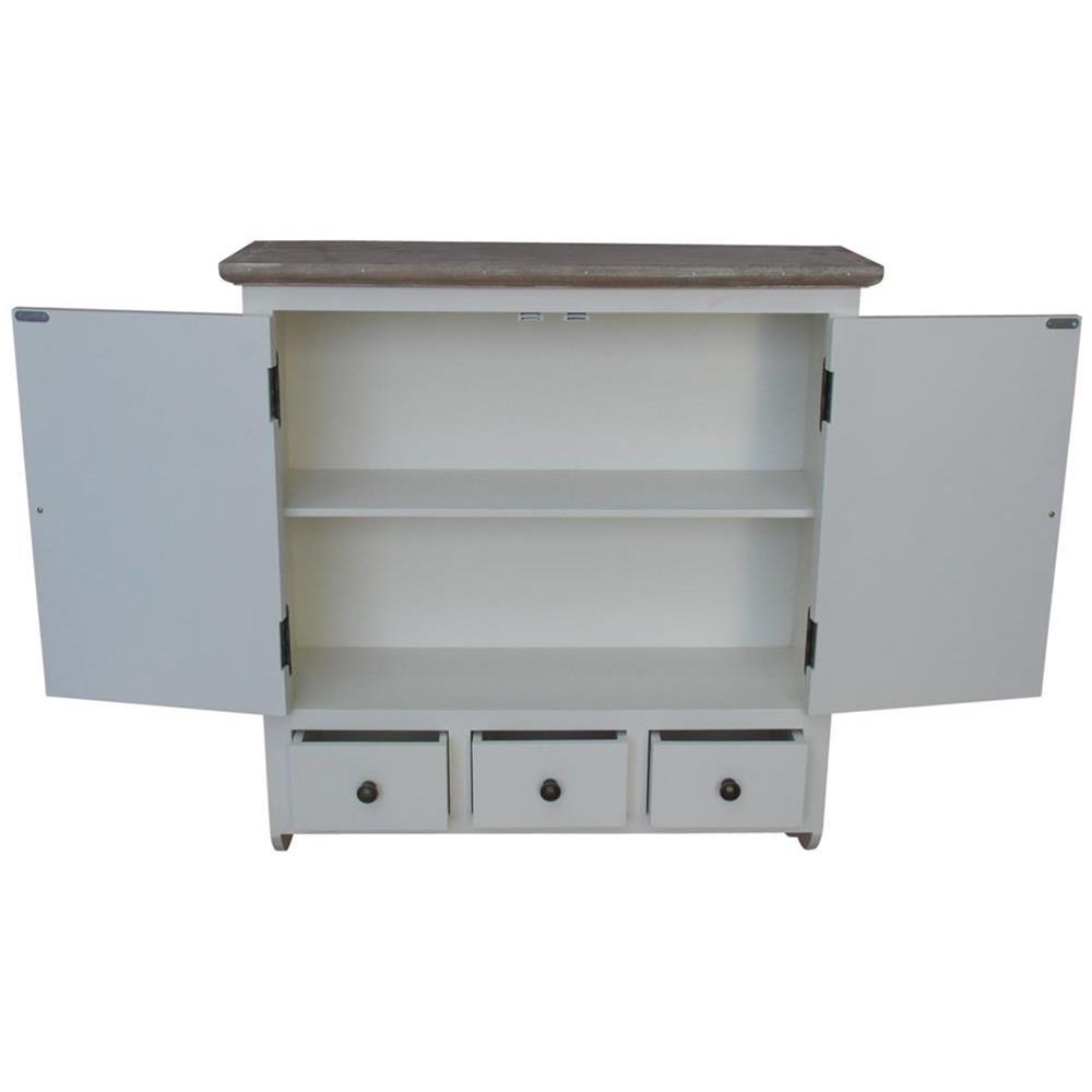 Mobiletto bianco da parete per cucina - bagno 70x77x22 codice SW-AY5014  Etnicart