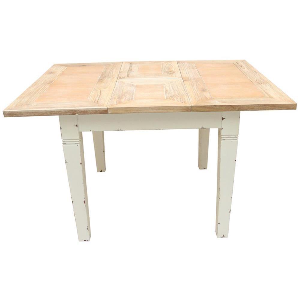 Tavolo da pranzo estensibile shabby chic 90x75x90 codice axtblex3sh etnicart - Tavolo pranzo dimensioni ...