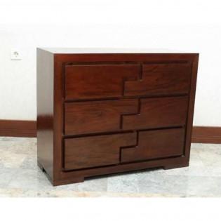 Cassettiera in legno di mogano 100x80x41 codice AX-21004   Etnicart