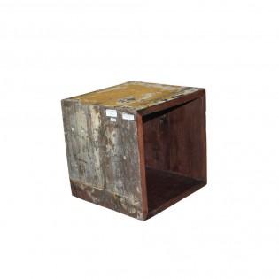 Modulo in legno di recupero colorato