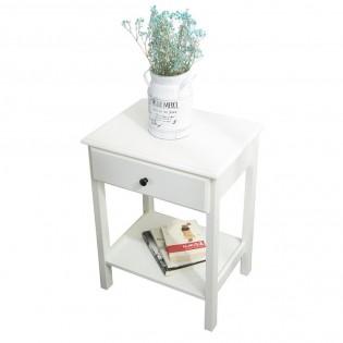 Comodino in legno MDF bianco e tavolino per divano e salotto tavolino da caffe 46