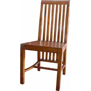 sedia in acacia marrone