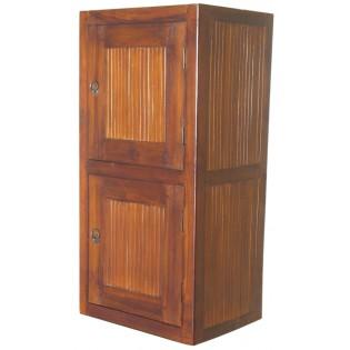 modulo 2 con sportello in teak e bamboo