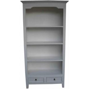 libreria bianca con cassetti