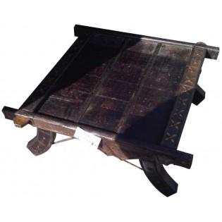 Tavolo indiano in legno e ferro