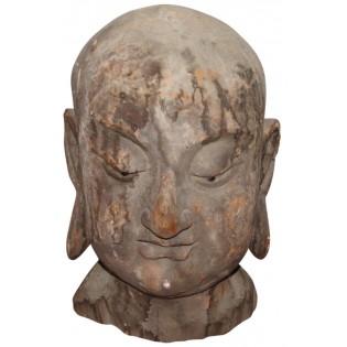 antica testa di Buddha