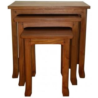 Tavolino in legno di mogano chiaro (il pi