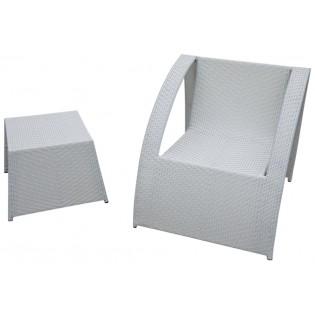 Poltroncina e tavolino/poggiapiedi di alta qualit