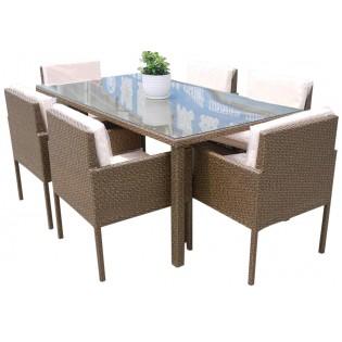Tavolo Con Sedie Esterno.Tavolo Da Esterno Con Sedie Struttura In Alluminio E Rivestimento In