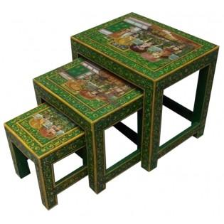 Tavolino basso dipinto (il piccolo della foto)