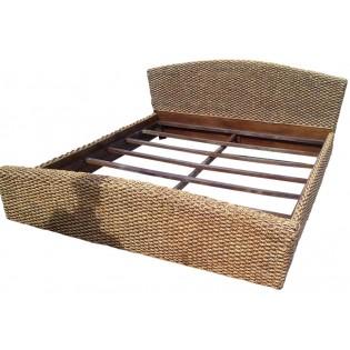 letto king size in giacinto d'acqua