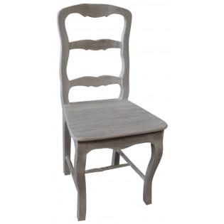 Sedia bianca decapata stile shabby chic