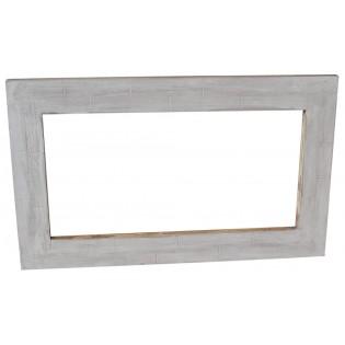 Specchio bianco decapato stile shabby chic 100x60x3 codice KSF06-w ...
