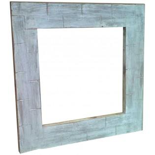 Specchio bianco decapato stile shabby chic 60x60x4 codice - Specchio ovale shabby chic ...
