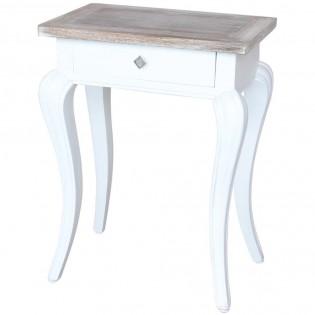 Tavolino shabby chic con cassetto