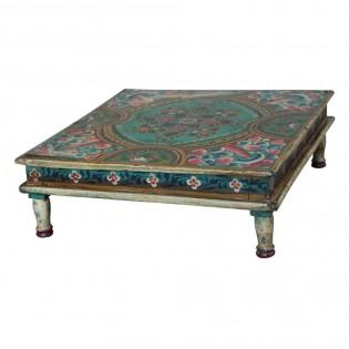 Tavolino Etnico Basso.Tavolo Basso Etnico Indiano Dipinto 45x15x45 Codice Jacs 208