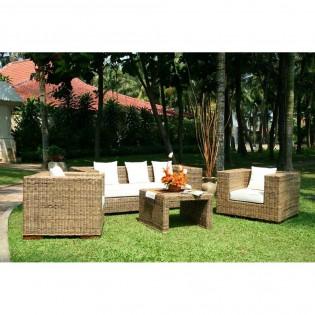 Divano poltrone e tavolo da giardino in giacinto d 39 acqua for Tavolo da divano