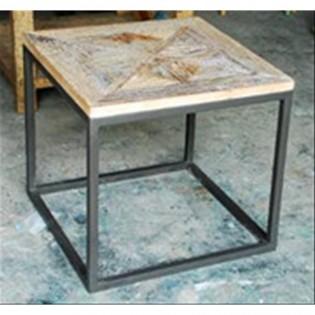 Tavolo vintage in ferro e legno 60x55x60 codice SE111-189 | Etnicart