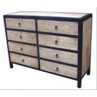 Cassettiera vintage in ferro e legno 120x85x40 codice SET-005 | Etnicart