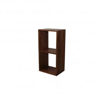 Modulo due cubi in mogano chiaro