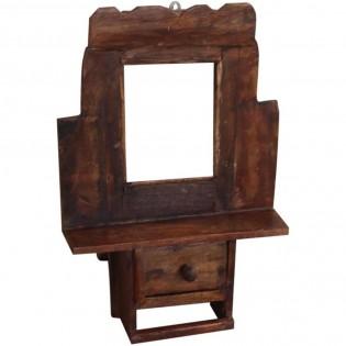 Piccolo specchio da parete con cassettino 29x42x6 codice for Specchio da parete piccolo