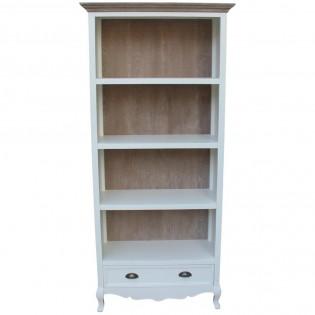 Libreria bianca provenzale con cassetto