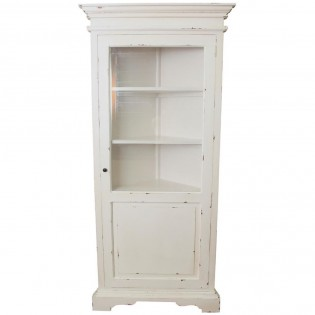 Angoliera provenzale shabby chic bianca 45x195x45 codice for Dove comprare mobili shabby chic
