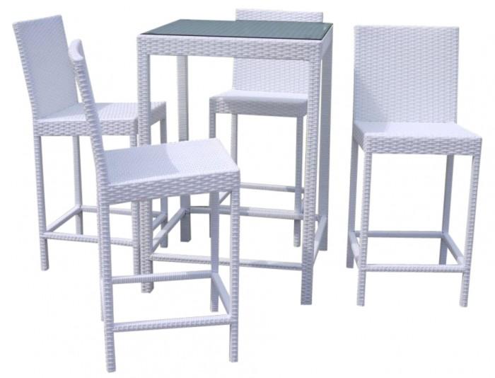 Tavolo da esterno alto con sgabelli struttura in alluminio e ...