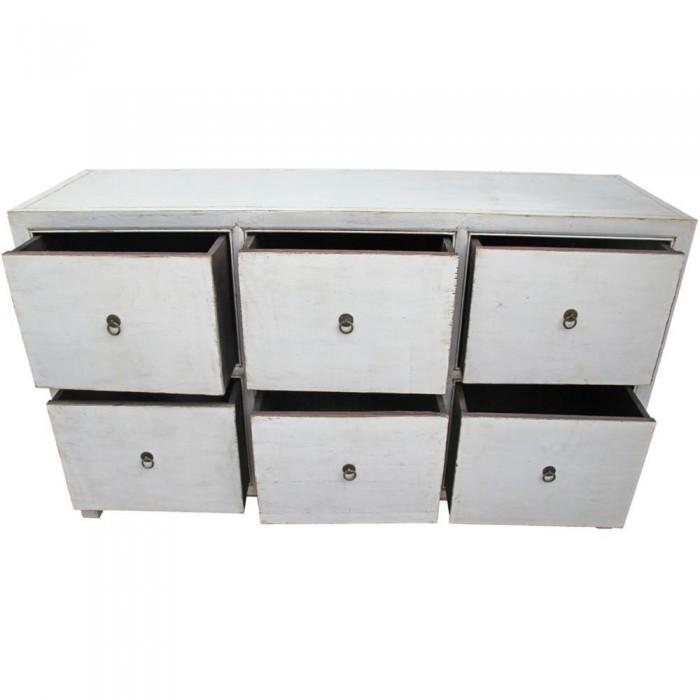 Cassettiera cinese laccata bianca 150x88x45 codice MA-2399 | Etnicart