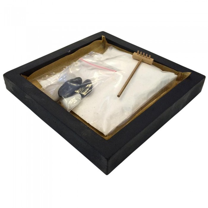 Giardino Zen Quadrato : Giardino zen in resina nero quadrato codice ie