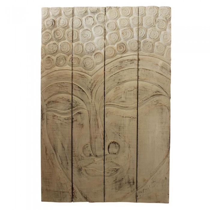 Pannello decorativo in legno decapato con buddha 120x80x5 - Pannello decorativo ...
