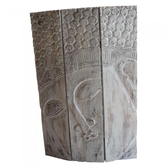 Pannello decorativo con buddha in legno decapato 90x60x3 - Pannello decorativo ...