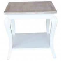 Tavolo da salotto shabby chic con top in teak