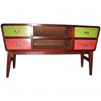 Mobili e armadi in legno di recupero etnicart for Consolle colorata