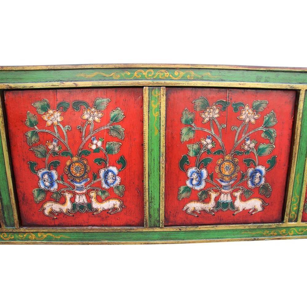 Mesa De Centro Tibetana 152x52x40 Etnicart # Muebles Tibetanos