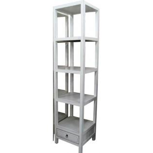 librero abierto en pino blanco