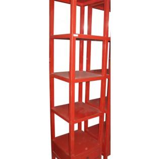 librero de madera de pino rojo