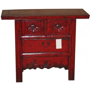 Mueble anticuado chino de 3 cajones