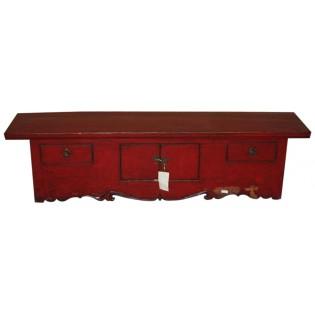 Mueble bajo de madera alamo antiguo