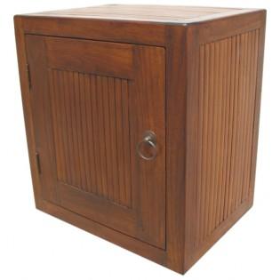 Modulo en teca y bambu con puerta