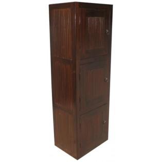 Modulo 3 con teca y puerta de bambu